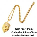 A with pearl chain